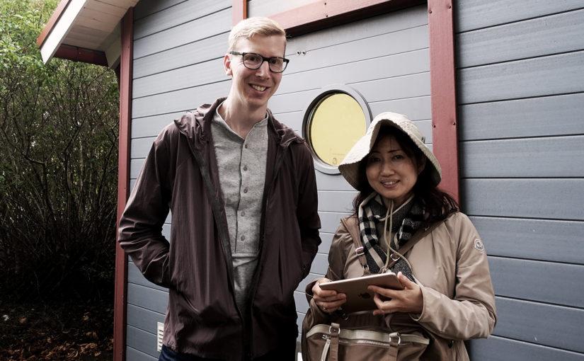 Japansk forskare i avfallshantering på besök