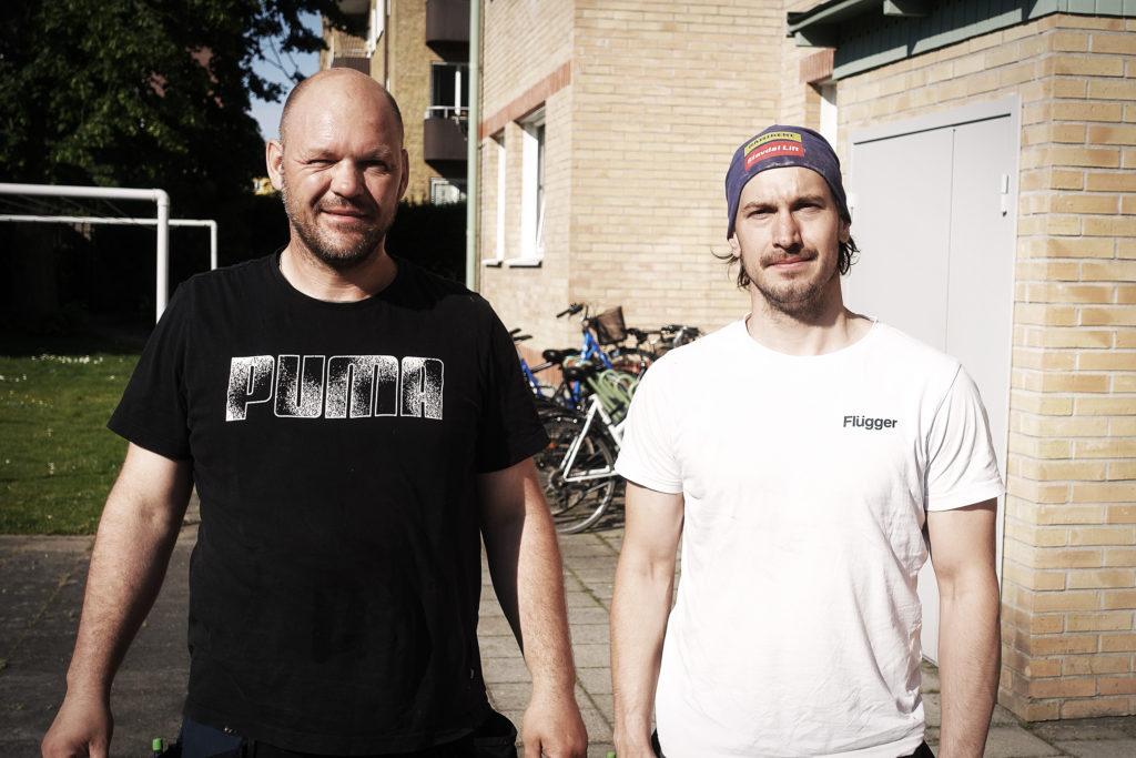 Maco och Patrik från Strandhems Byggservice